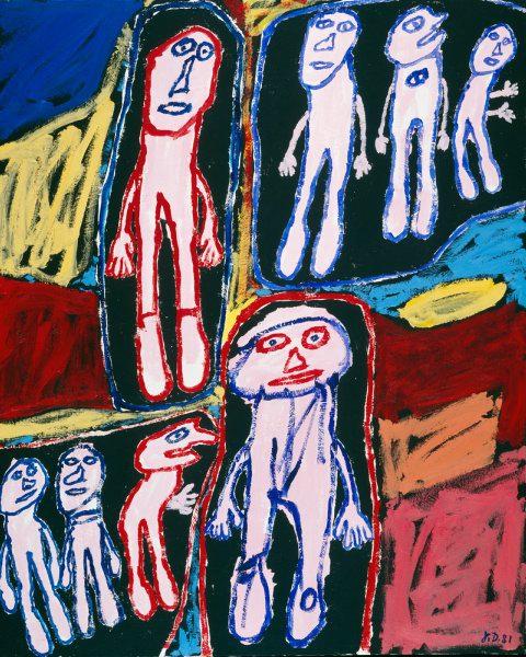 Jean Dubuffet, Site fréquenté, 1981