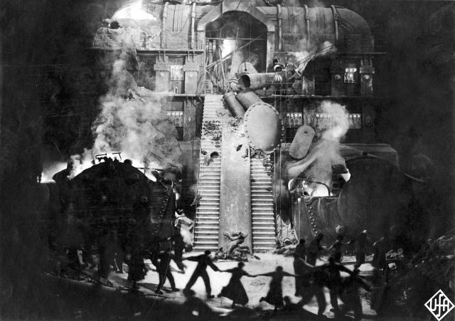 La destruction du Moloch capitaliste, photogramme de Metropolis de Fritz Lang, 1927