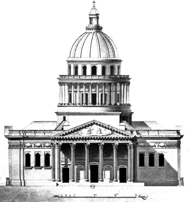 Soufflot, façade du Panthéon de Paris, 1758