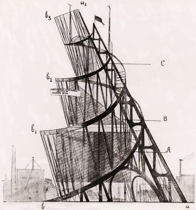 Tatline, Projet du Monument à la IIIe Internationale, 1919-20