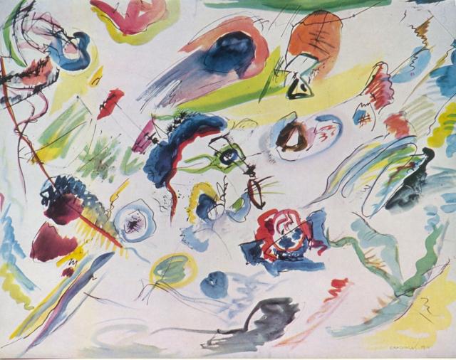 W. Kandinsky, Première aquarelle abstraite, 1910