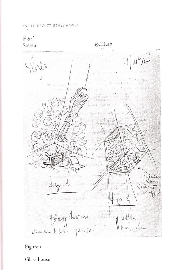 Eisenstein, dessin préparatoire pour le projet de film Glass House (non réalisé), 1930.