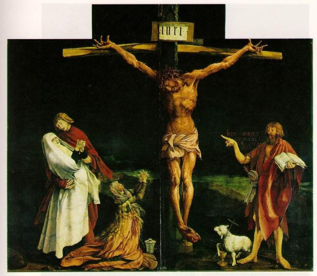 Grünewald, La crucifixion, retable d'Issenheim, 1512-1516.