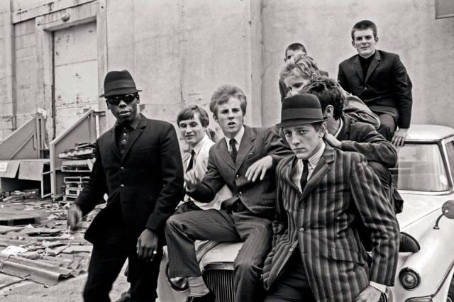 Photo prise lors du tournage du film Quadrophenia, vers 1979.