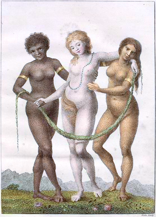 William_Blake, Europe supported by Africa and America, 1796.