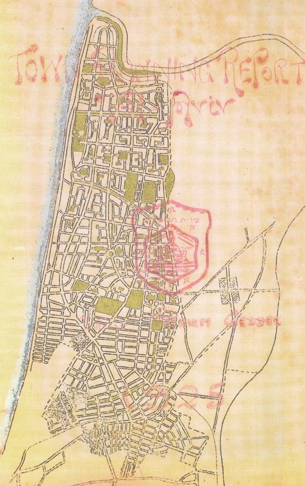 Patrick Geddes, Plan directeur pour Tel Aviv, 1925.
