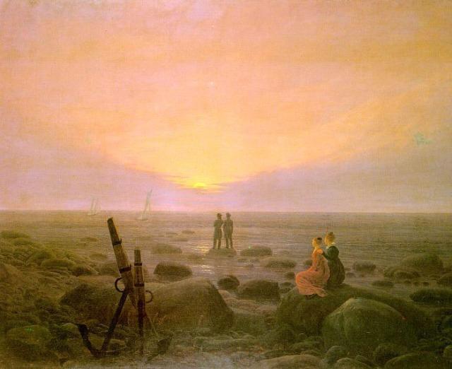 Caspar David Friedrich, Lever de lune sur la mer, 1821