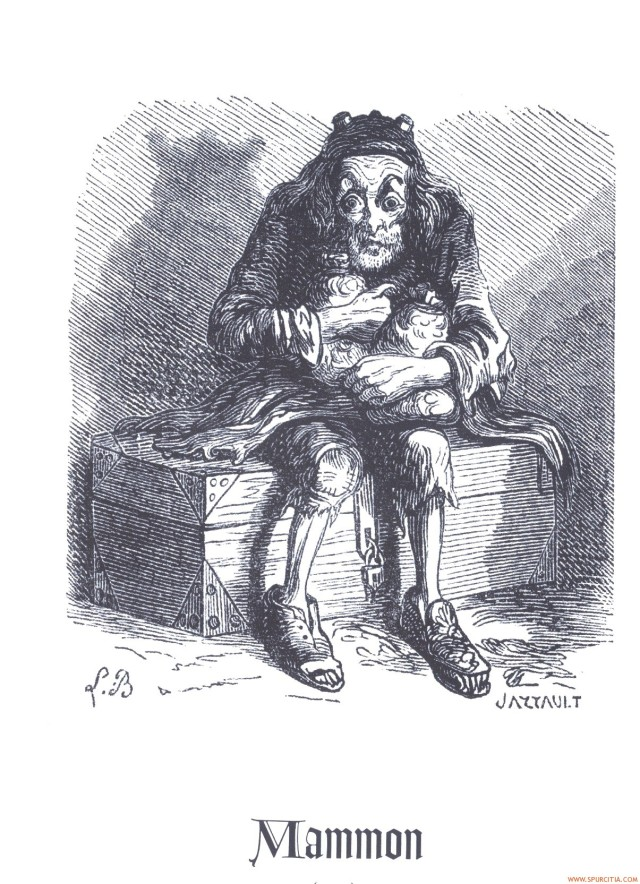 Louis Le Breton, Mammon, 1863, illustration pour le Dictionnaire infernal de Jacques Collin de Plancy