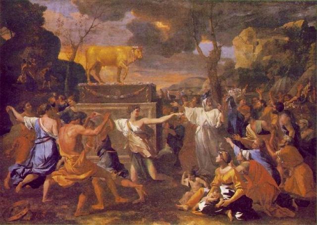 Nicolas Poussin, L'adoration du Veau d'or, 1633-34