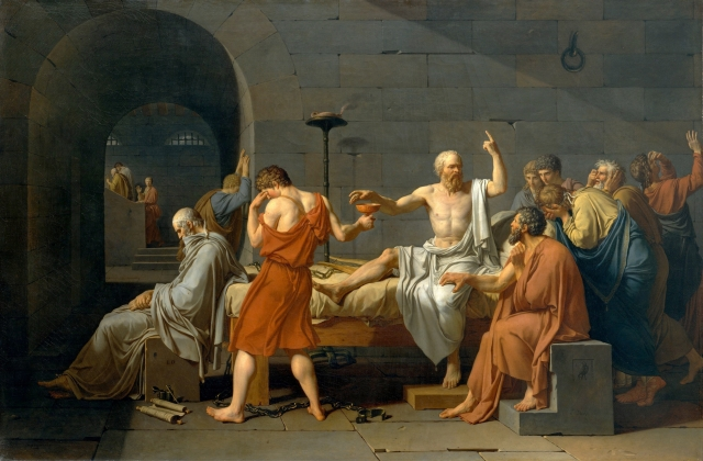 Jacques-Louis David, La mort de Socrate, 1787