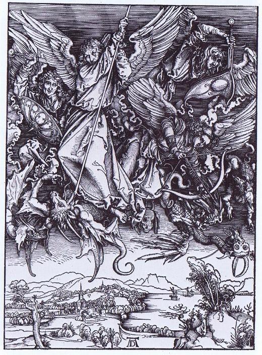 Albrecht Dürer, Saint Michel terrassant le dragon, 1498