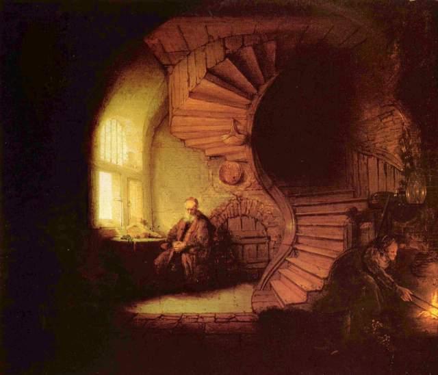 Rembrandt van Rijn, Philosophe en méditation, 1632