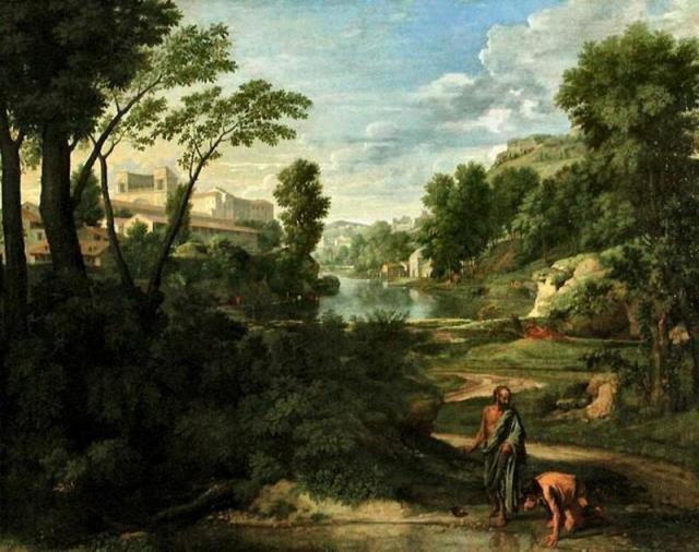 Nicolas Poussin, Paysage avec Diogene, vers 1657