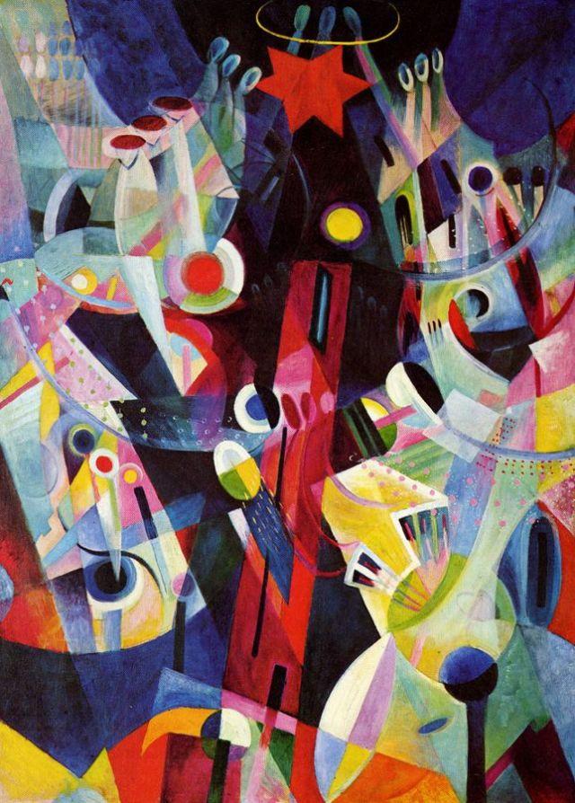 Johannes Itten, La tour rouge, 1917-18